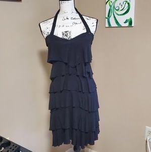 Guess Flapper tiered Black Dress